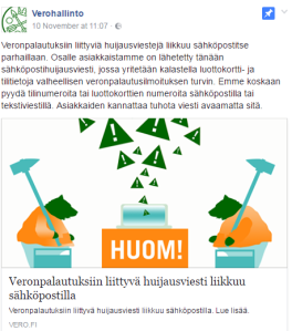 Facebook-postaus