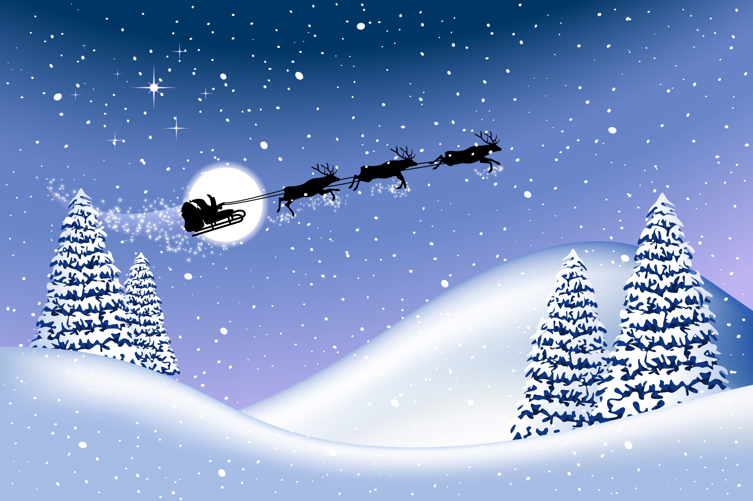 Christmas background, all elements are editable on different layers